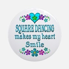 Square Dancing Smiles Round Ornament