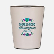Square Dancing Smiles Shot Glass