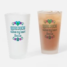 Square Dancing Smiles Drinking Glass