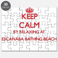 Keep calm by relaxing at Escanaba Bathing B Puzzle
