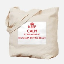 Keep calm by relaxing at Escanaba Bathing Tote Bag