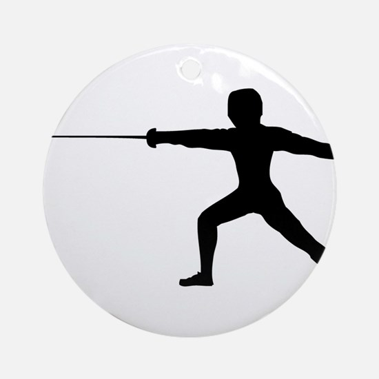 Guy Fencer Round Ornament