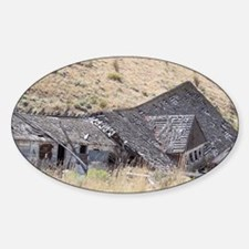 Ghost Town Ruins Sticker (Oval)