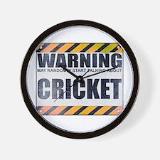 Warning: Cricket Wall Clock