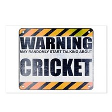 Warning: Cricket Postcards (Package of 8)