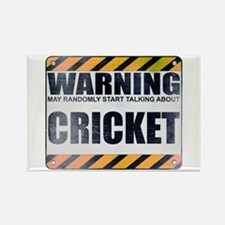 Warning: Cricket Rectangle Magnet