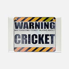 Warning: Cricket Rectangle Magnet
