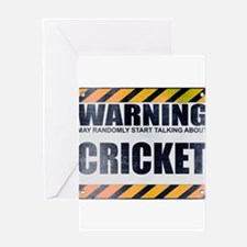Warning: Cricket Greeting Card