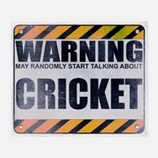 Warning: Cricket Stadium Blanket