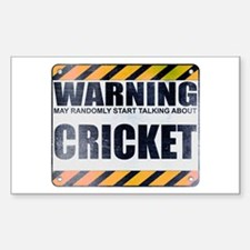 Warning: Cricket Rectangle Decal