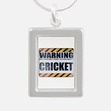 Warning: Cricket Silver Portrait Necklace