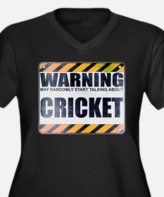 Warning: Cricket Women's Dark Plus Size V-Neck T-S