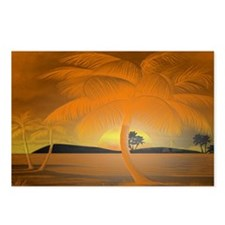 Orange Paradise Lg Poster.png Postcards (Package o