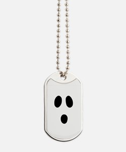 Boo Face Dog Tags