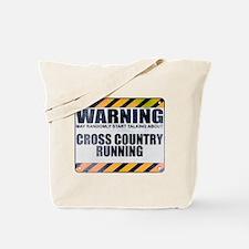 Warning: Cross Country Running Tote Bag