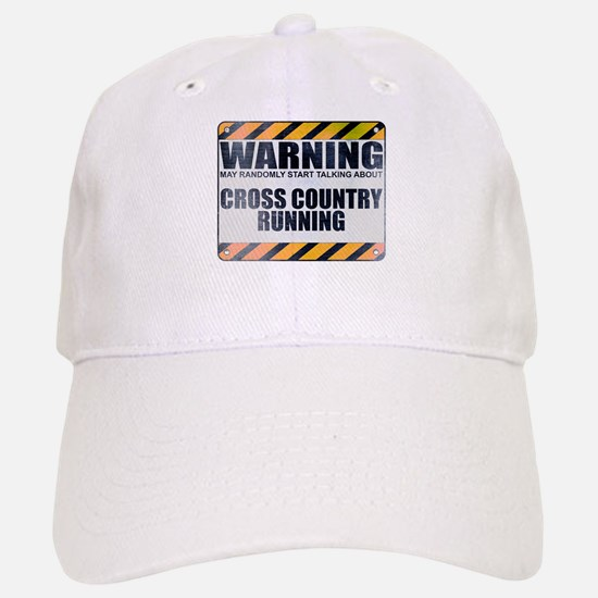Warning: Cross Country Running Baseball Baseball Cap