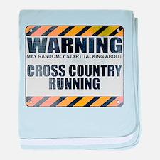 Warning: Cross Country Running Infant Blanket