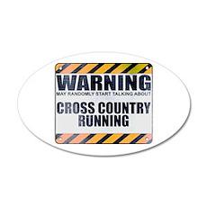 Warning: Cross Country Running 22x14 Oval Wall Pee