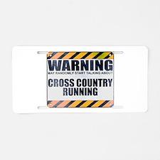 Warning: Cross Country Running Aluminum License Pl