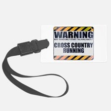 Warning: Cross Country Running Luggage Tag