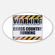 Warning: Cross Country Running Oval Decal