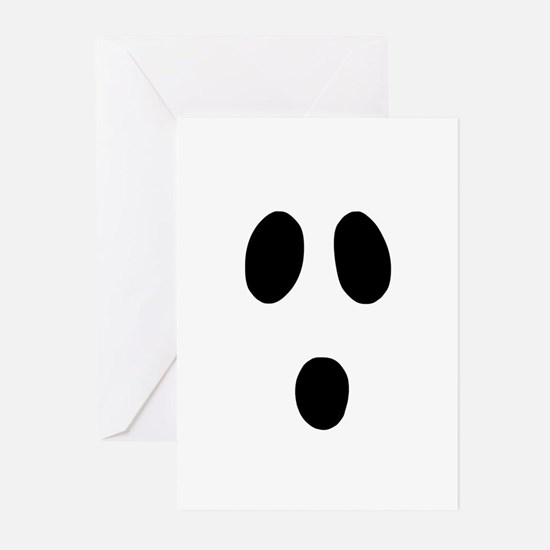 Boo Face Greeting Cards