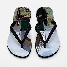 Oregon Trail Flip Flops