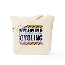 Warning: Cycling Tote Bag