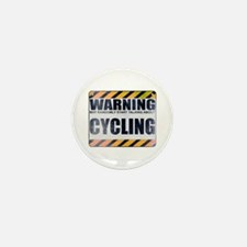 Warning: Cycling Mini Button (10 pack)