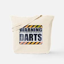 Warning: Darts Tote Bag