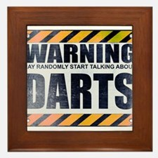 Warning: Darts Framed Tile