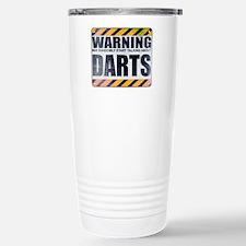 Warning: Darts Ceramic Travel Mug