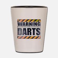 Warning: Darts Shot Glass