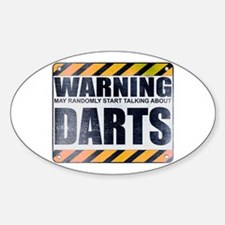 Warning: Darts Oval Decal