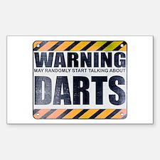 Warning: Darts Rectangle Decal