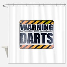 Warning: Darts Shower Curtain