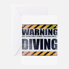 Warning: Diving Greeting Card