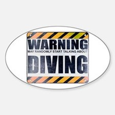 Warning: Diving Oval Decal