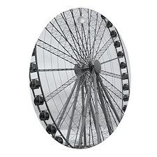 Cute Big wheel Oval Ornament