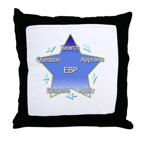 Evidence Based Practice Throw Pillow