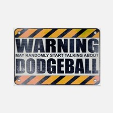 Warning: Dodgeball Rectangle Magnet