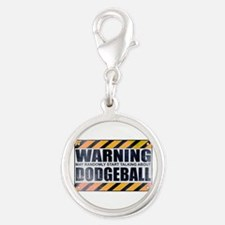 Warning: Dodgeball Silver Round Charm