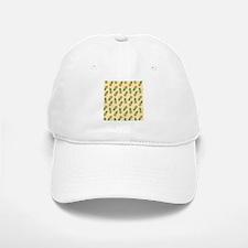 Ivory Cream Pineapple Pattern Baseball Baseball Baseball Cap