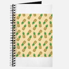 Ivory Cream Pineapple Pattern Journal