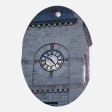 Clock Tower Oval Ornament