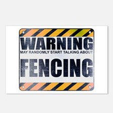 Warning: Fencing Postcards (Package of 8)