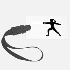 Girl Fencer Lunging Luggage Tag