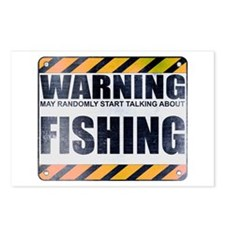 Warning: Fishing Postcards (Package of 8)