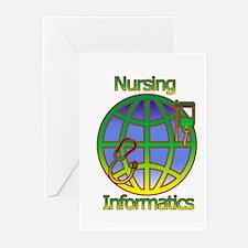 Global Nursing Informatics Greeting Cards (Pk of 1