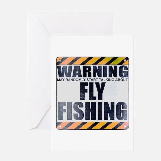 Warning: Fly Fishing Greeting Card